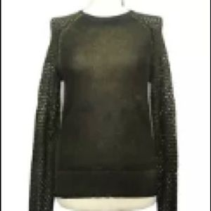 Rare Edun Foil Perforated Wool Sweater